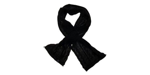Dámska čierna pletená šála Loap