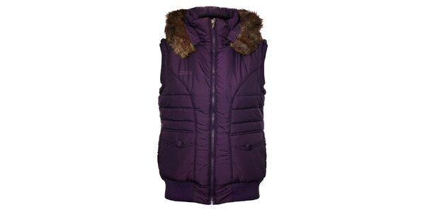 Dámska fialová prešívaná vesta Loap