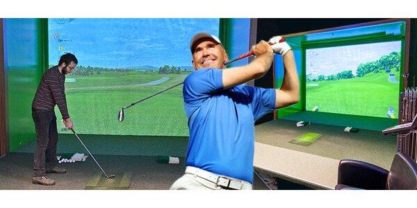 Hodina na golfovom simulátore