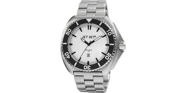 Analogové oceľové hodinky Jet Set