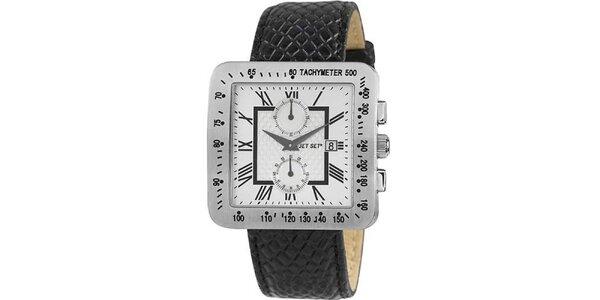 Oceľové hodinky jet Set s koženým remienkom