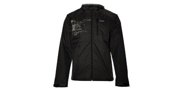 Pánska čierna šusťáková bunda Loap