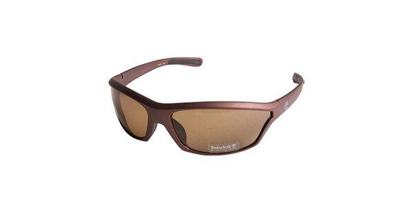 Hnedé metalické slnečné okuliare Timberland