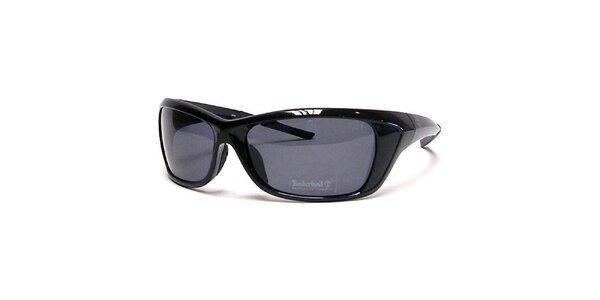 Lesklé čierne slnečné okuliare Timberland