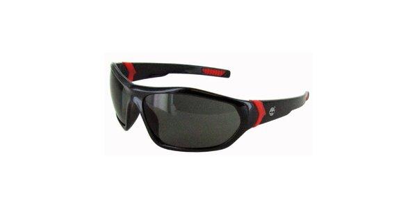Čierne slnečné okuliare s červenými neónovými detailmi Timberland