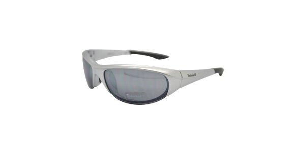 Šedé metalické okuliare Timberland