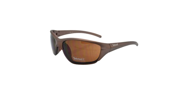 Hnedé metalické okuliare Timberland