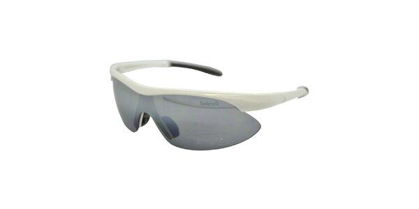 Biele športové slnečné okuliare s šedými sklami Timberland
