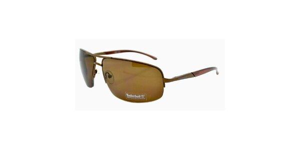 Hnedé slnečné okuliare s hnedo tónovanými sklami Timberland