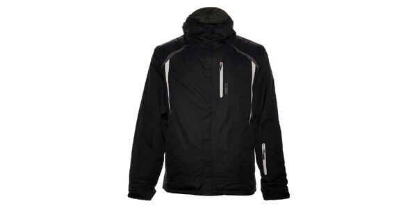 Pánska čierna lyžiarska bunda