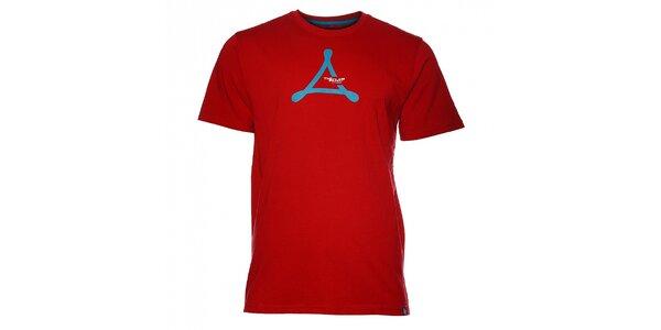 Pánske červené tričko Loap s potlačou