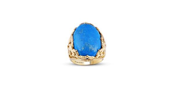 Dámsky pozlátený prsteň s tyrkysom Giorgio di Mare