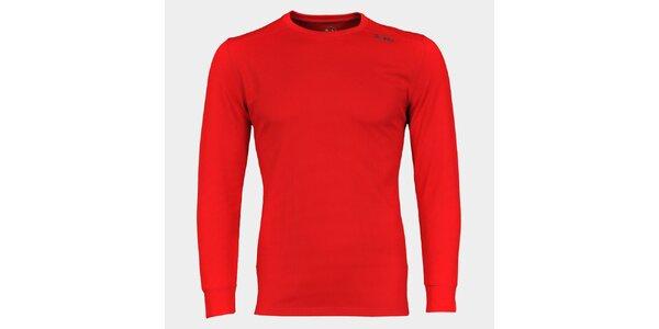 Pánske červené funkčné tričko Sweep s dlhým rukávom