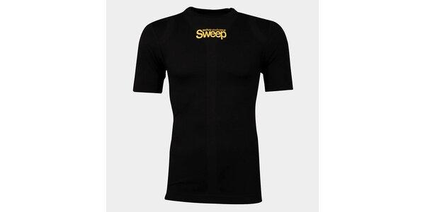 Pánske čierne bezšvové tričko Sweep