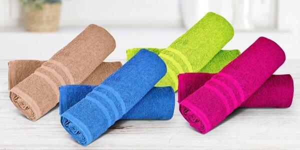 Jednofarebné froté uteráky a osušky zo 100% bavlny