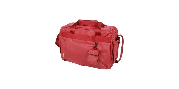 Dámska červená cestovná taška Mandarina Duck