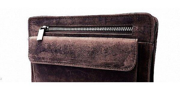 Pánska taška - etue z byvolej kože Nubuku. Doprava zdarma a peňaženka ako…