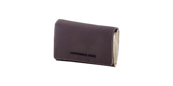 Šedo-biela peňaženka Mandarina Duck