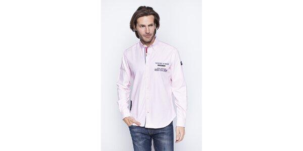 Pánska svetlo ružová košeľa Giorgio di Mare