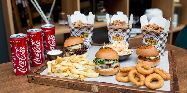 Geronimo MIX BOX pre 3 osoby: burgery, kebab, prílohy