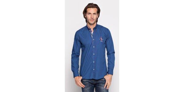 Pánska indigovo modrá košeľa Giorgio di Mare
