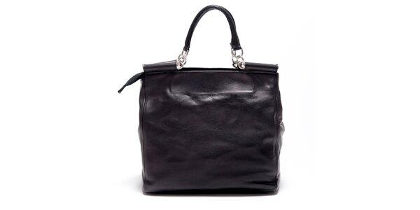 Dámska čierna retro kabelka s popruhom Carla Ferreri