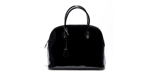 Dámska čierna lakovaná kabelka Carla Ferreri