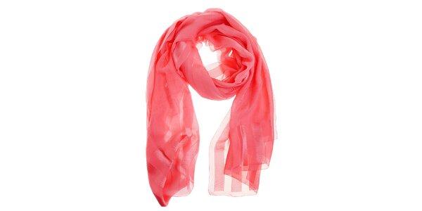 Dámsky svetlo ružový hodvábny šál Fendi