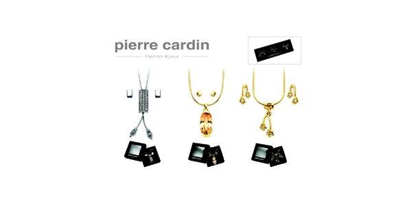 Darčeková sada troch náhrdelníkov a troch párov náušníc Pierre Cardin