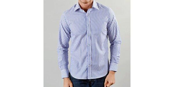 Pánska modro prúžkovaná košeľa Marcel Massimo