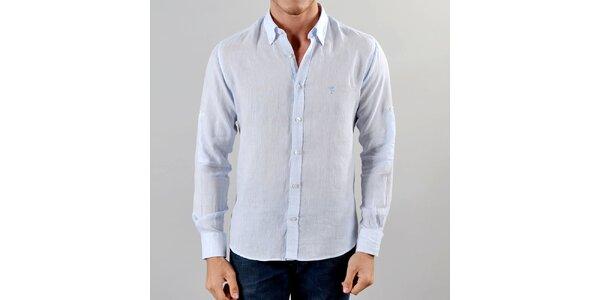 Pánska ľanová svetlo modrá košeľa Marcel Massimo