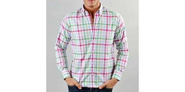 Pánska farebná károvaná košeľa Marcel Massimo