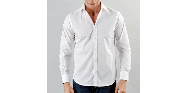 Pánska snehovo biela košeľa Marcel Massimo