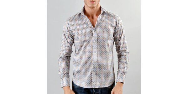 Pánska šedo-hnedá košeľa Marcel Massimo