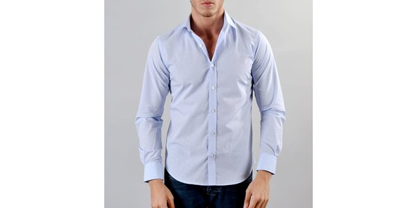 Pánska svetlo modrá košeľa so vzorom Marcel Massimo