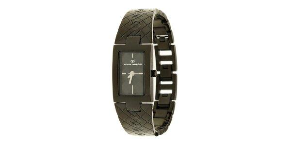 Dámske čierne analogové náramkové hodinky Tom Tailor
