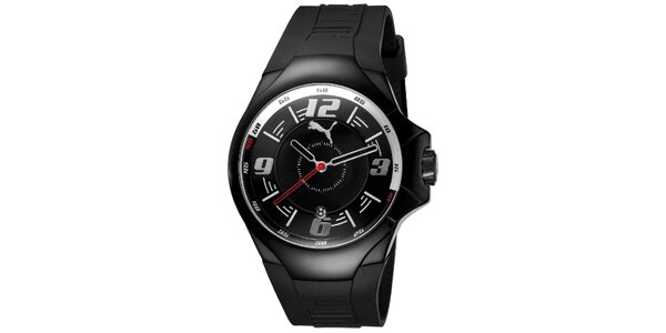 Pánske čierne analogové hodinky Puma