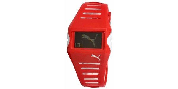 Červené digitálne hodinky Puma