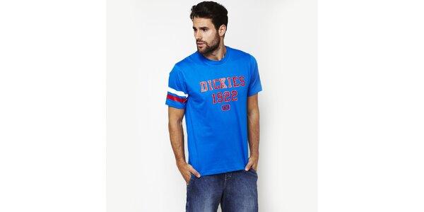 Pánske nebesky modré tričko s potiskom Dickies