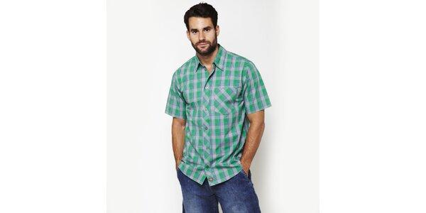 Pánska šedo-zelená kostkovaná košeľa Dickies