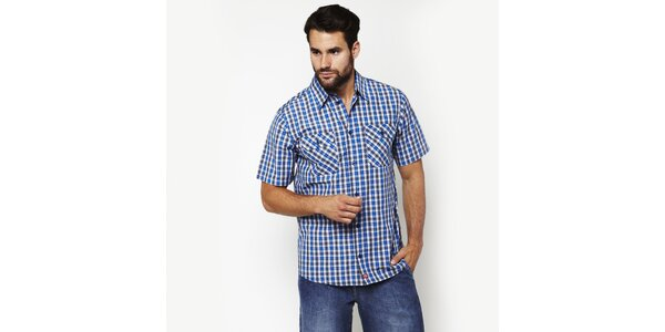 Pánska modro-biela kostkovaná košeľa Dickies