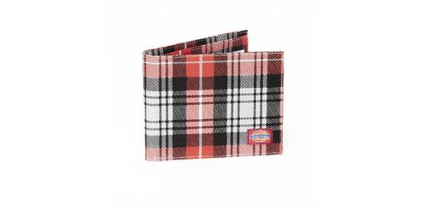 Pánska čierno-červená kostkovaná peňaženka Dickies