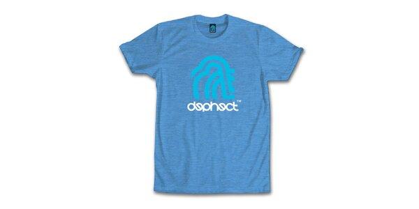 Pánske vodovo modré tričko s potiskom Dephect