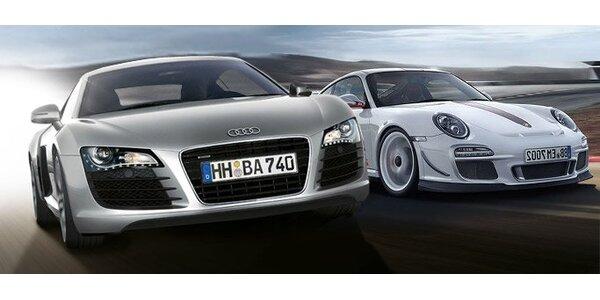 55 eur za 30 minút jazdy na športiaku Audi R8 alebo Porsche 911 GT3 RS