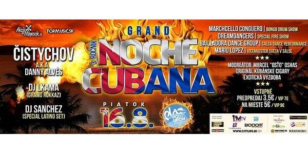 V.I.P Vstupenka na : Kubánsku noc na pláži pod ufom ( Piatok 16.8 2013)