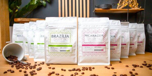 Lahodná káva z Brazílie a Nikaraguy – 100% Arabica