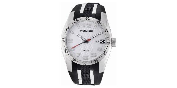 Pánske analógové hodinky s bielym ciferníkom Police