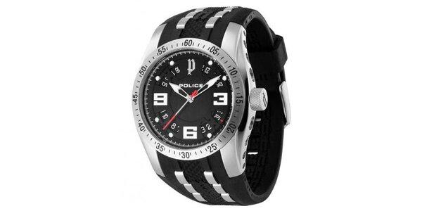 Pánske analógové hodinky s čiernym ciferníkom Police