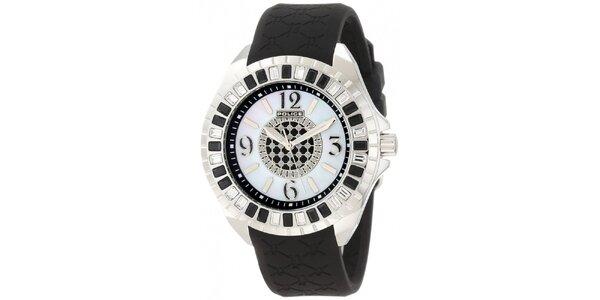 Dámske analógové hodinky s čiernym remienkom Police