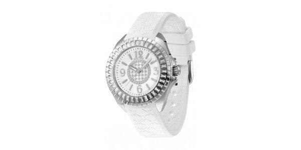 Dámske analógové hodinky s bielym remienkom Police